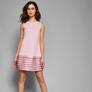 Ted Baker London Marggia Satin loop shift dress